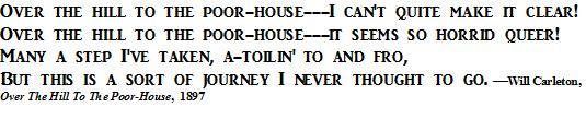 Poor House Poem