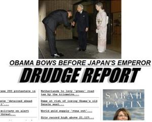 Drudge and Obama bow