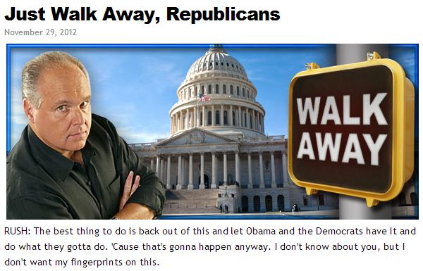 walk away rush
