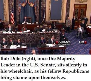 bob dole in senate chamber