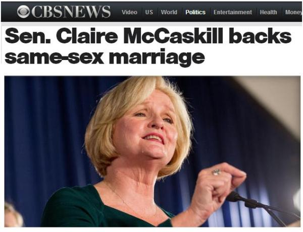 claire mccaskill on gay marriage