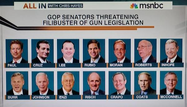 gop senators and gun filibuster