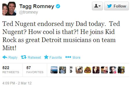 tagg tweet on nugent