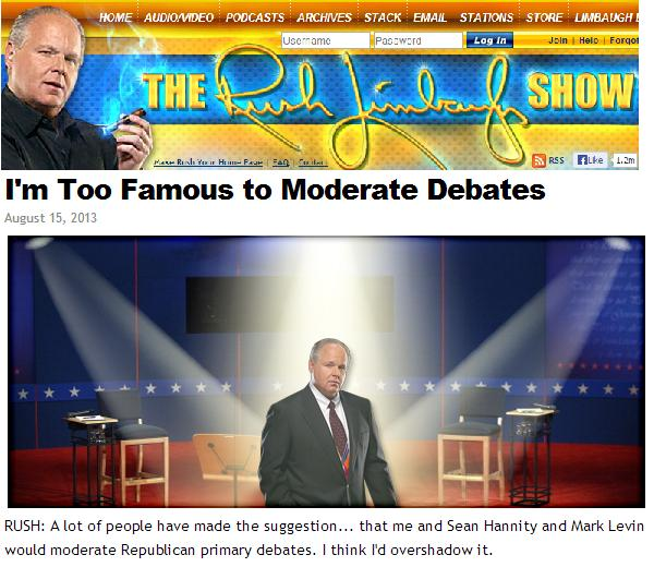limbaugh and debates