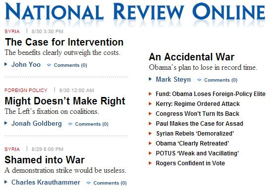 national review on syria decision