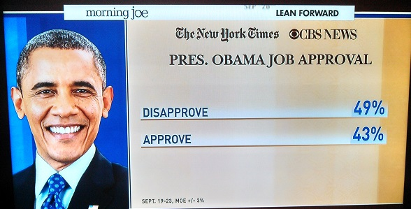 obama job approval sept 2013