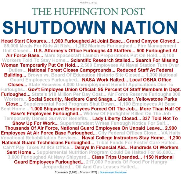 huffpo on shutdown