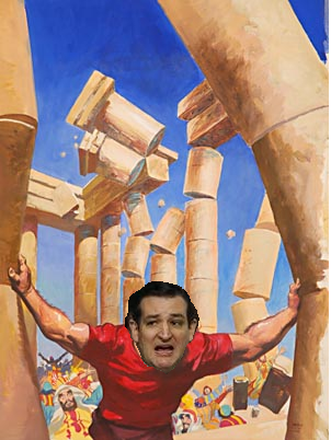 ted cruz takes down the temple