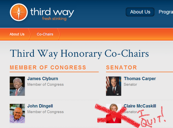 senator mccaskill and third way