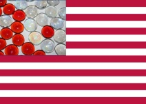 flag and cells