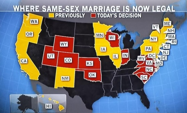 same sex marriage by state