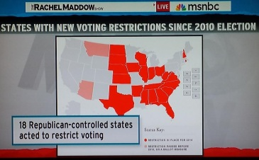 voting restriction states since 2010