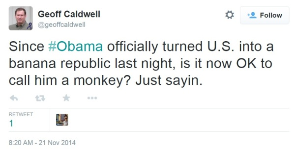 caldwell and monkey tweet