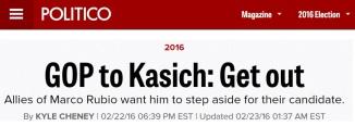 kasich should drop out