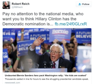 reich tweet on bernie
