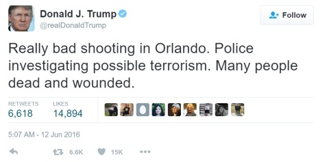 drumpf tweet on orlando