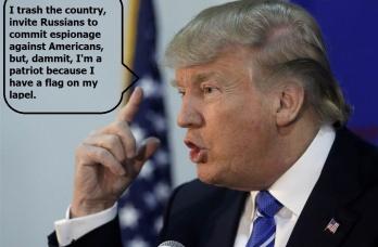 Trump lapel pin