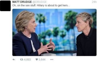 drudge and hillary and ellen